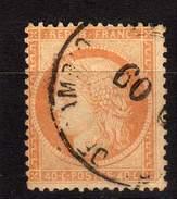 FRANCE CLASSIQUE MARCOPHILIE YT 38 OBLITERATION ESPAGNE - 1849-1876: Classic Period