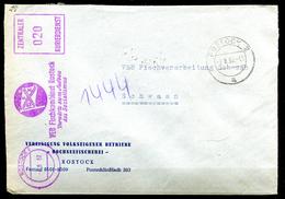 """DDR 1962 ZKD Bedarfsbrief Mit Blauen.Propaganda FST""""Rostock 1-VEB Fischkombinat Rostock Vorwärts Zum Aufbau Des """"1 Beleg - DDR"""