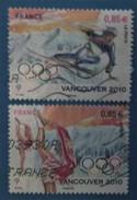 France 2010  : Jeux Olympiques D´hiver 2010 à Vancouver N° 4436 à 4437 Oblitéré - France