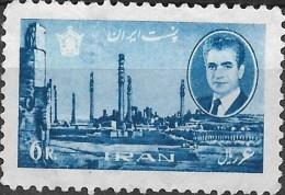1966 Sh Ah & Ruins Of Persepolis - 6r. - Blue MNG - Irán