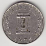 @Y@      Malta 5 Cents   1976   (4620) - Malta