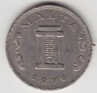 @Y@      Malta 5 Cents   1976   (4621) - Malta