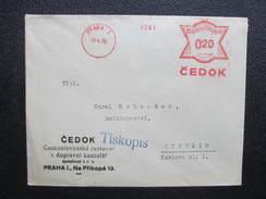 BRIEF Praha 1 CEDOK 1932 Frankotype Freistempel Postfreistempel  /// O5048