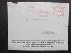 BRIEF Praha 1 Statkari 1935 Frankotype Freistempel Postfreistempel  /// O5049