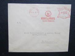 BRIEF Ceska Trebova Krbec + Pribyl  1935 Frankotype Freistempel Postfreistempel  /// O5052