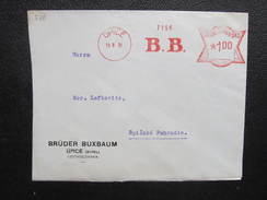 BRIEF Upice 1931 B.B. Frankotype Freistempel Postfreistempel  /// O5057