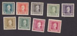 Austria, Scott #M49-M53, M60-M62, M65, Mint Hinged, Emperor Karl I Military Stamps, Issued 1917 - Austria