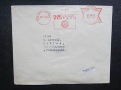 BRIEF Dvur Kralove Nad Labem Gustav Deutsch 1934 Frankotype Freistempel Postfreistempel  /// O5058