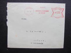 BRIEF Plesna Fleissen Sudetenland Lehrmann 1934 Frankotype Freistempel Postfreistempel  /// O5059