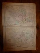 1861 Carte Géographique GAULE Ancienne ; FRANCE Mérovingienne ;par Drioux Et Leroy; Gravure  Jenotte - Geographical Maps