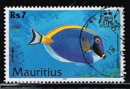 Mauritius 2000, Michel# 914 O Powderblue Surgeonfish (Acanthurus Leucosternon) - Mauritius (1968-...)
