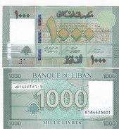 Lebanon-Liban New 2016- 1.000 LL - Uncirculated Superb Comdition, Scan Recto-verso - Lebanon