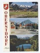 Cp , ALLEMAGNE , OBERSTDORF , Multi-Vues , Blason-RECTO/VERSO-C77 - Oberstdorf
