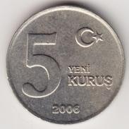 @Y@     Turkije  5 Yeni Kurus   2006     (4638) - Turquie