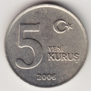@Y@     Turkije  5 Yeni Kurus   2006     (4638) - Turkije