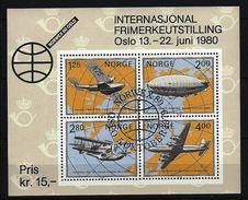 NORWEGEN Mi-Nr. Block 2 Internationale Briefmarkenausstellung NORWEX 1980, Oslo Gestempelt