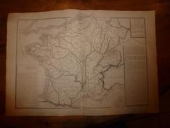 1861 Carte Géographique Physique De La FRANCE (empruntée à Lavallée ,géographe Militaire) ;par Drioux Et Leroy - Geographical Maps