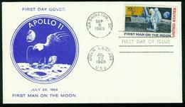 FD USA FDC 1969 - MiNr 990 - Erste Bemannte Mondlandung, Apollo 11 - FDC