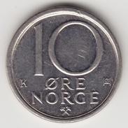 @Y@     Noorwegen  10 Ore  1985    (4636) - Noorwegen