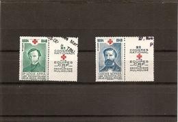 2 è Congrès National Croix Rouge Française Secourisme Mulhouse, L. Appia - G. Moynier - 1949 - Erinnophilie. - Erinnophilie