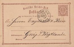 DR Ganzsache K1 Berlin N. O. P.A.18  30.11.74 - Briefe U. Dokumente
