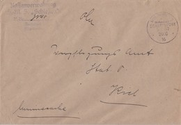 DR Brief Kaisl. Dt. Marine-Schiffspost Nr.57 20.10.16  S.M.S. Schlesien - Covers & Documents