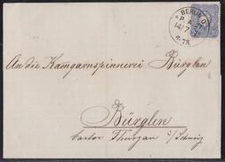 DR Brief EF Minr.34 Berlin O. P.A.27  14.7.75 Gelaufen In Die Schweiz - Deutschland