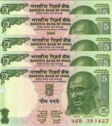 INDIA 5 RUPEES ND (2003) P-88Ad UNC SIGN. REDDY. WITHOUT PLATE LETTER [IN271b1] - India