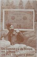 CPA Billet De Banque Banknote écrite Militaria - Monnaies (représentations)