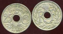 FRANCE 25 Centimes LINDAUER 1928 - F. 25 Centimes