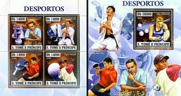 S. Tomè 2006, Sport, Chess, Judo, Tennis, Tennis Table, Golf, 4val In BF +BF GOLD