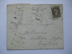 CANADA VICTORIA 1893 COVER LONDON HAMILTON ONTARIO TO SUSSEX ENGLAND - Briefe U. Dokumente