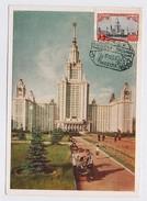 CARTE MAXIMUM CM Card USSR RUSSIA Architecture Moscow University Lomonosov - Maximumkarten