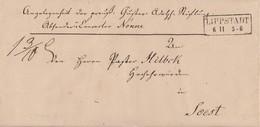 Preussen Brief R2 Lippstadt 6.11. Gel. Nach Sost Mit Bpst. Hamm-Paderborn 7.11. Mit Inhalt Aus Dem Jahr 1851 - Preussen