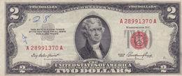 USA 2 $ DOLLARS 1953 RED SEAL NOTE F-VF - Billetes De Estados Unidos (1928-1953)