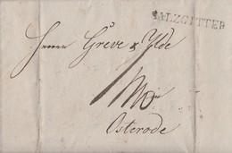 Hannover Brief L1 Salzgitter Gelaufen Nach Osterode Mit Inhalt Vom 27.11.1831 - Hannover
