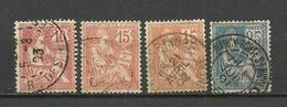 France > 1900-1902 Used Stamps Lot