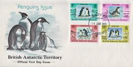 British Antarctic Territory Penguins Set On FDC