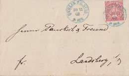 NDP Brief EF Minr.4 Blauer K2 Berlin P.E. Nr.25 Vom 30.11.68 - Norddeutscher Postbezirk