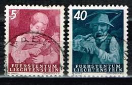 Liechtenstein 1951, Michel# 289 + 295 O