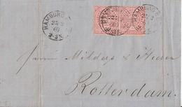 NDP Brief Mef Minr.2x 4 Hamburg 25.2.1869 Gel. Nach Holland - Norddeutscher Postbezirk