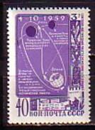 RUSSIA - UdSSR - 1959 - Kosmos Sonde Lunique 3 - 1v** - Nuevos