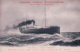"""Paquebot-Poste, Compagnie Générale Transatlantique """"EUGENE PEREIRE"""" (2826) - Dampfer"""