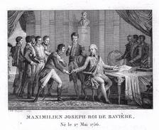 Campagne Napoléon- MAXIMILIEN JOSEPH - Gravure Sur Acier De 13.4.cmx 9.3cm Document Avec Biographie  Superbe Document - Stampe & Incisioni