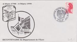 Révolution Française : Evreux (Eure) Bicentenaire Création Département De L'Eure (4 Mars 1990)