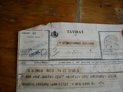 Tavirat WW1  Ujvidek 1916 KuK Erganzungsbesirkskommando  Ujvidek - Télégraphes