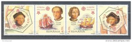 Romania - 2005 Europa Stamps 50 Years Strip MNH__(TH-8040)
