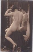 CPA 1900 /20 D´origine Photo Artistique édt J Mandel A.N 204 Belle Jeune Femme Nue Face Au Miroir Nude Beautiful  Womam - Nus Adultes (< 1960)