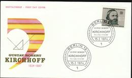 Germany Berlin 1974 / Gustav Robert Kirchhoff / German Physicist And Chemist