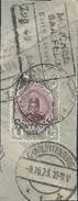 PERSIA IRAN PERSE PERSIEN PERSIAN ON Piece PAPER CUT OVERPRINT CONTROLE ON 2KR CANCELLED 1923 CHARLOTTENBURG - Iran